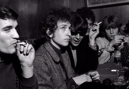 Dylan and the band