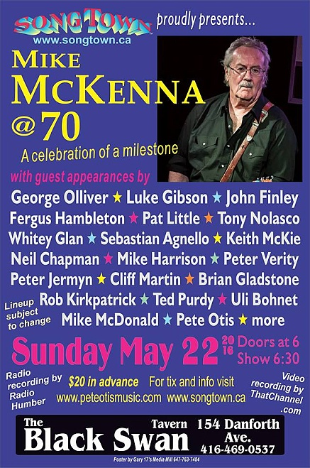 Mike McKenna 70th bday poster