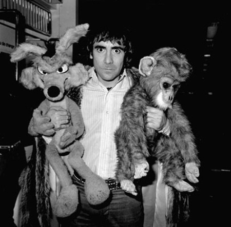 Keith Moon, the eccentric drummer of pop group The Who, at Heathrow Airport, on return from the United States.