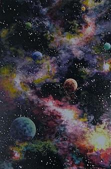 Ken Tobias painting far off worlds