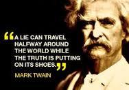 a lie can travel Twain