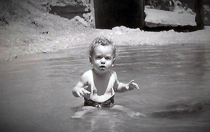 Bob 10 months old First Yosemite Camping Trip June 1946 cropped