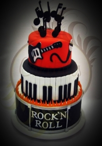 Rock n roll bday cake