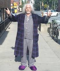 bob in robe and slippers