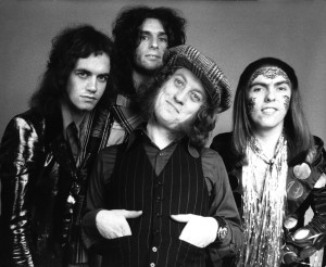 Slade 1973 Jimmy Lea, Don Powell, Noddy Holder and Dave Hill (Photo by Chris Walter/WireImage)