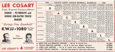 beavers-1950-schedule